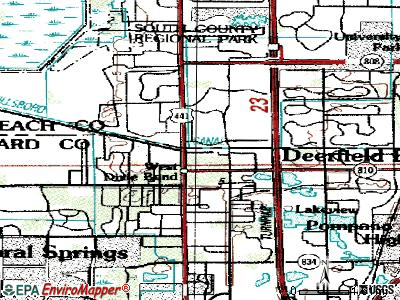 Hillsboro Pines topographic map