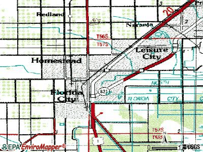 Homestead topographic map