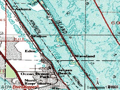 Hutchinson Island South topographic map