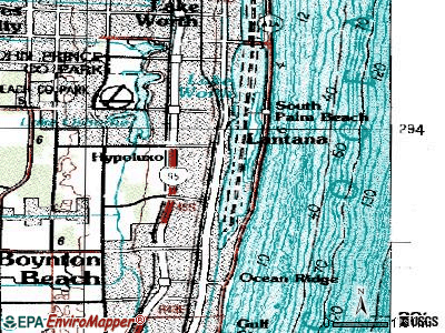 Hypoluxo topographic map
