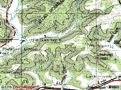 Pleasant Groves topographic map
