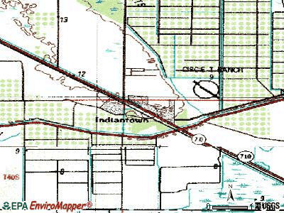 Indiantown topographic map
