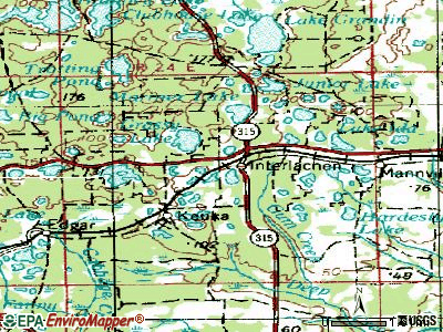 Interlachen topographic map