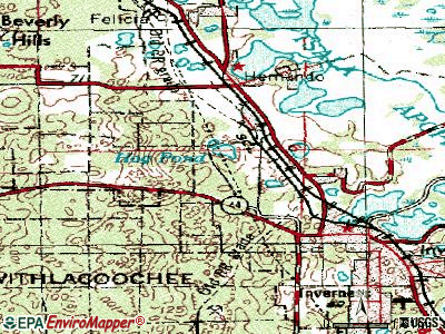 Inverness Highlands North topographic map