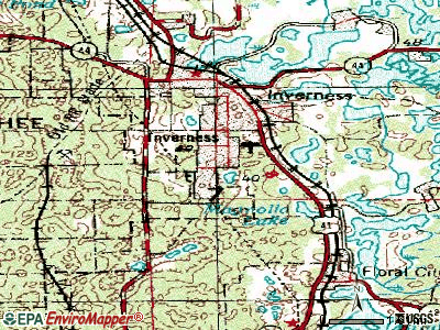 Inverness Highlands South topographic map