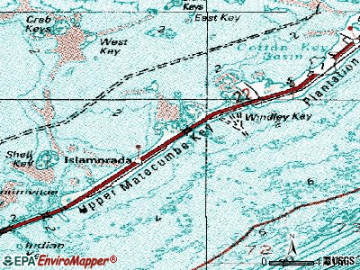 Jacksonville topographic map