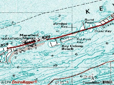 Key Colony Beach topographic map