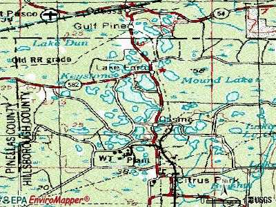Keystone topographic map