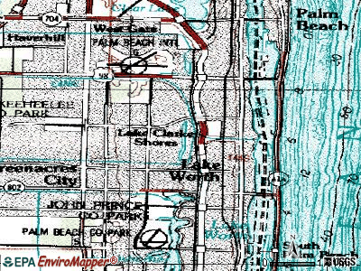 Lake Clarke Shores topographic map