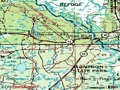 Lake Mack-Forest Hills topographic map