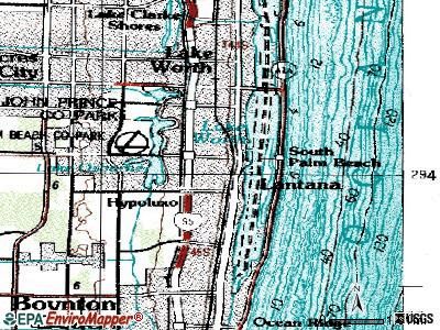 Lantana topographic map