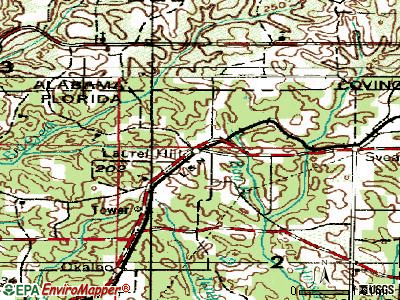 Laurel Hill topographic map