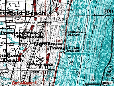 Lighthouse Point topographic map