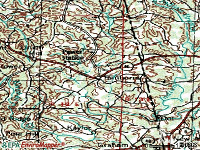 Ranburne topographic map