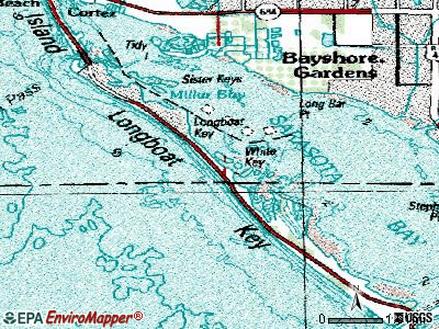 Longboat Key topographic map