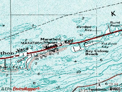 Marathon topographic map