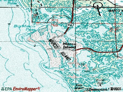 Marco Island topographic map