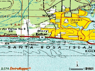 Mary Esther topographic map