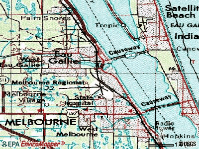 Melbourne topographic map