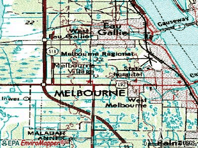 Melbourne Village topographic map
