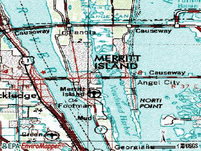 Merritt Island topographic map