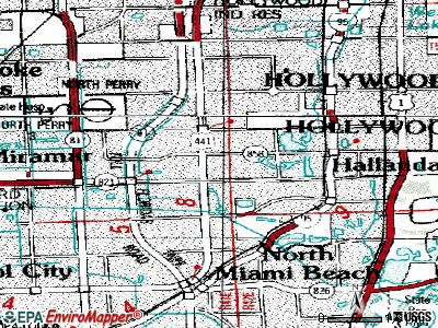 Miami Gardens Topographic Map