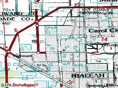Miami Lakes topographic map