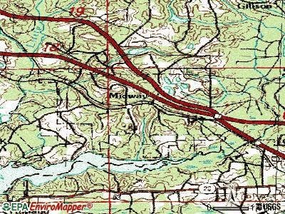 Middleburg topographic map