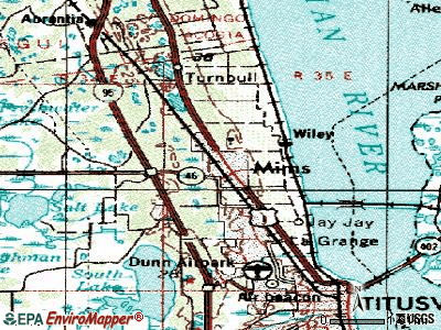 Mims topographic map