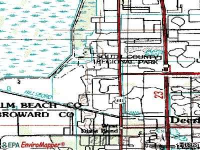 Mission Bay topographic map