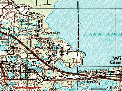Montverde topographic map
