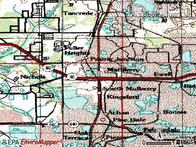 Mulberry topographic map