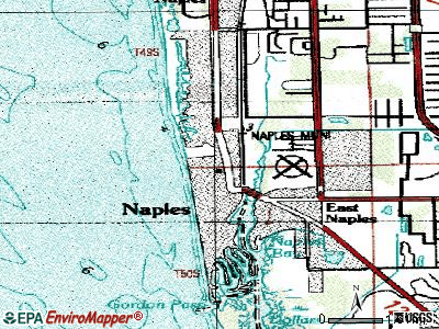 Naples topographic map