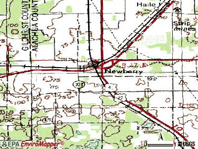 Newberry topographic map