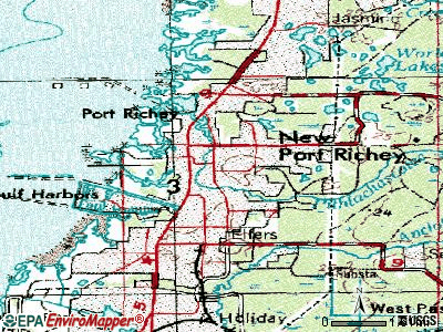 New Port Richey topographic map