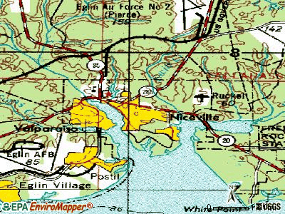 Niceville topographic map