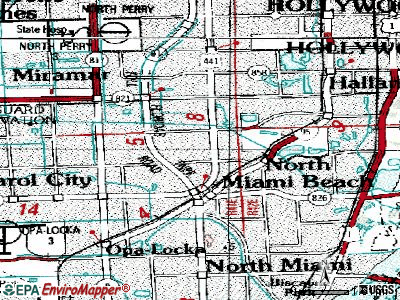 Norland topographic map