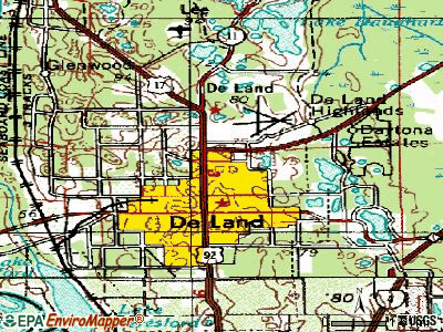 North De Land topographic map