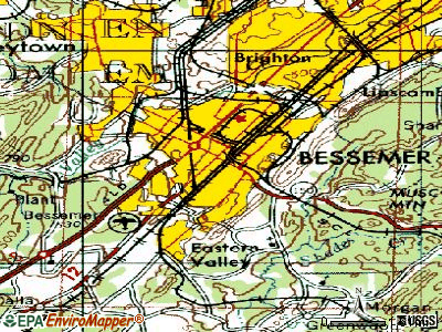 Bessemer topographic map