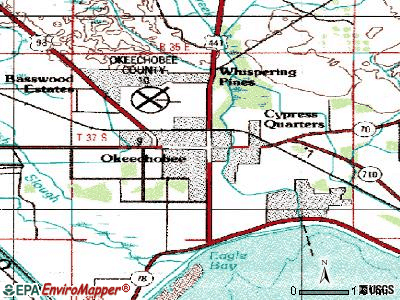 Okeechobee topographic map