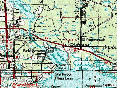 Oldsmar topographic map