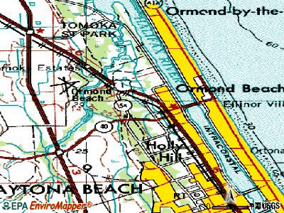 Ormond Beach topographic map