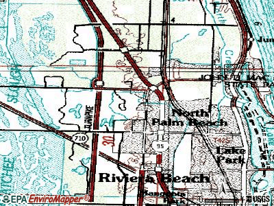 Palm Beach Gardens topographic map