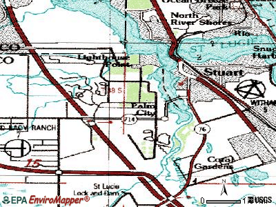 Palm City topographic map