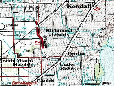 Palmetto Estates topographic map