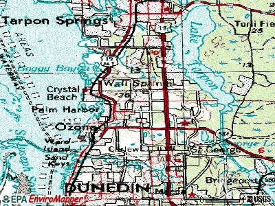 Palm Harbor topographic map