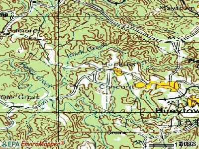 Rock Creek topographic map