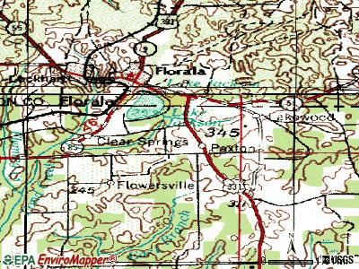 Paxton topographic map