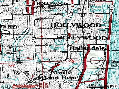 Pembroke Park topographic map