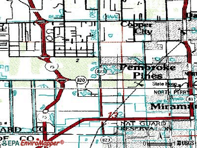 Pembroke Pines topographic map